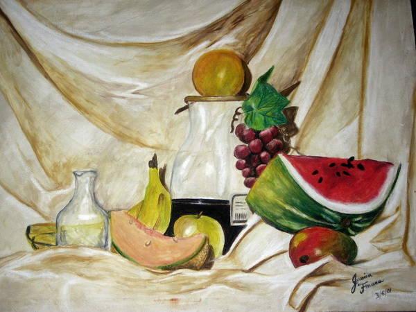 Fruit Art Print featuring the painting Fruta by Jessica De la Torre