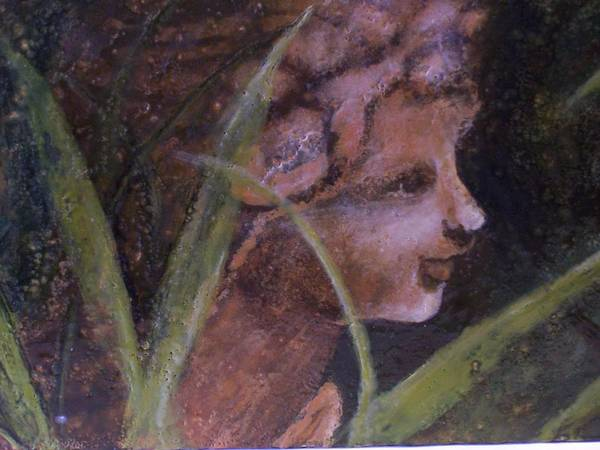 Child Art Print featuring the painting Garden Nymph by Karla Phlypo-Price
