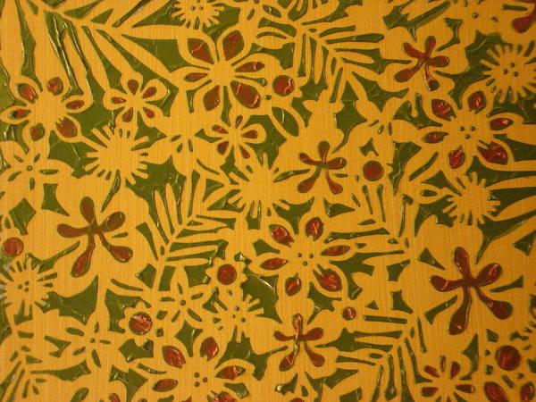 Garden Art Print featuring the painting Garden Print by Modern Palette Art