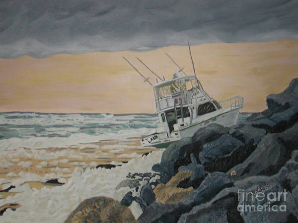 Transportation Art Print featuring the painting Ghost Captain by Sodi Griffin