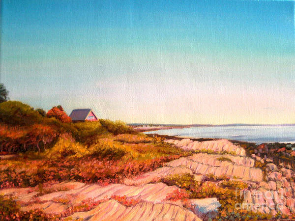 Maine Art Print featuring the painting Giant Steps Maine by Jane Simonson