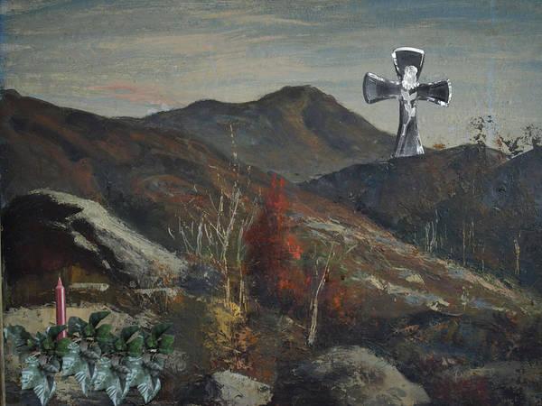 San Bernadino Art Print featuring the photograph Glass Cross by Chuck Shafer