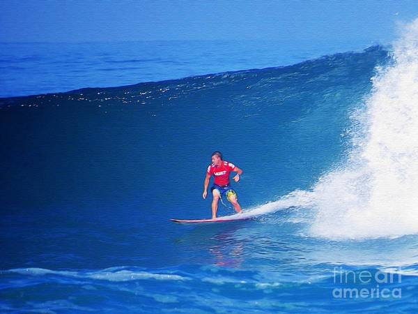 Professional-surfer-surfers Art Print featuring the photograph Glenn Hall by Scott Cameron