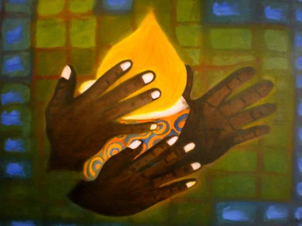 Glory Art Print featuring the painting Glory by Philip Okoro