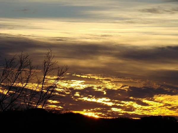 Sunrise Art Print featuring the photograph Golden Sunrise One by Ana Villaronga