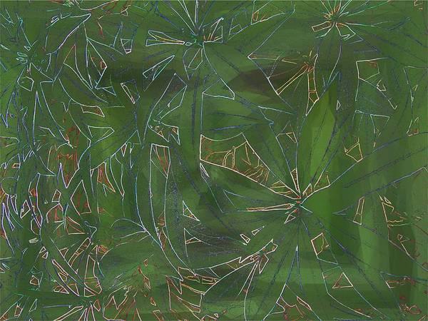Greenery Art Print featuring the digital art Greenery In Green by Tim Allen