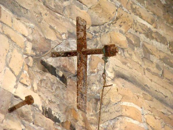 Cross Art Print featuring the photograph Gristmill Cross Two by Ana Villaronga