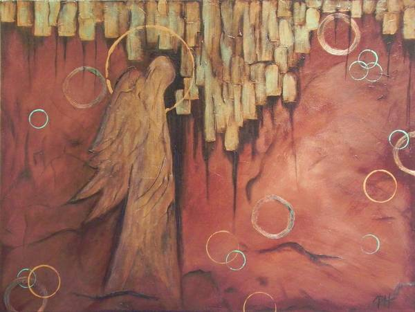 Angel Art Print featuring the painting Guardian by Patti Spires Hamilton