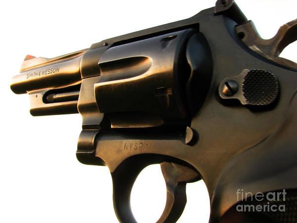 Gun Art Print featuring the photograph Gun Series by Amanda Barcon