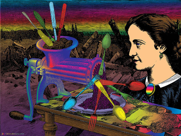 Sunset Art Print featuring the digital art Hamlets Mill by Eric Edelman