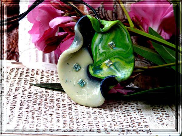 Jewel Art Print featuring the photograph Handmade Art In Nature by Chara Giakoumaki