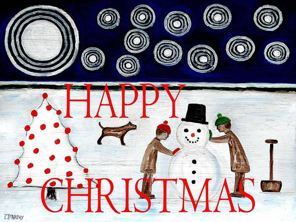 Christmas Art Print featuring the painting Happy Christmas 29 by Patrick J Murphy