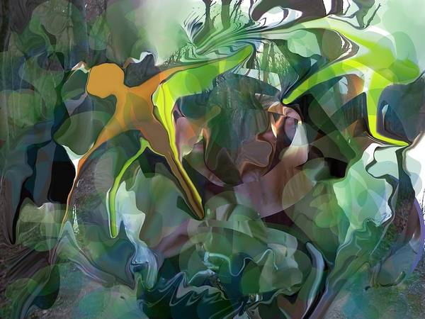 Abstract Art Print featuring the digital art Harper's Ferry Hiking by Peter Shor