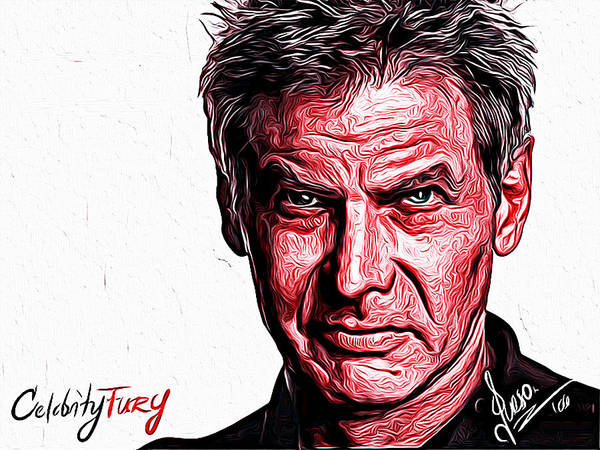 Harrison Ford Art Print featuring the painting Harrison Ford by Gene Spino
