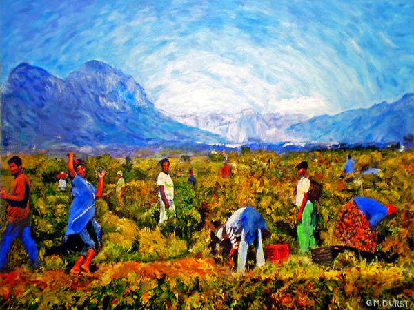 Vineyard Art Print featuring the painting Harvest Time by Michael Durst