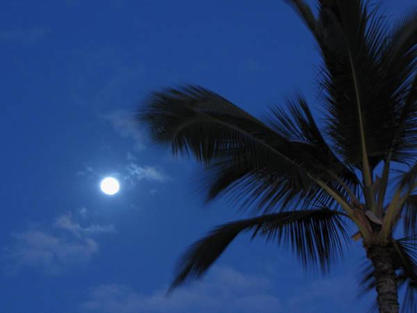 Moon Art Print featuring the photograph Hawaiian Moon by Sarah Houser
