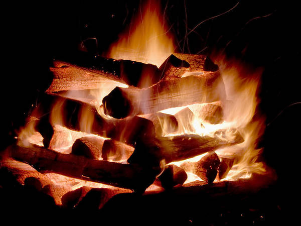Fire Art Print featuring the photograph Heart Of Fire by Jim DeLillo
