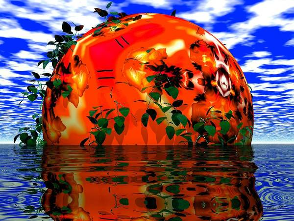 Sphere Art Print featuring the digital art Heavens Scent by Robert Orinski