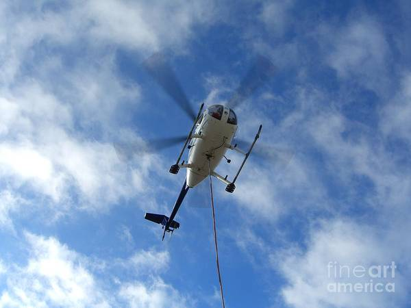 Helicopter Art Print featuring the photograph Helicopter Hover by Jim Thomson