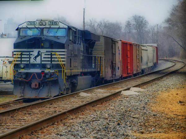Train Art Print featuring the photograph Here Comes The Train by Kathy Jennings
