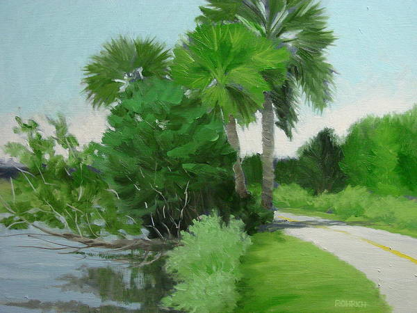 Landscape Art Print featuring the painting Highbridge Road Trees by Robert Rohrich
