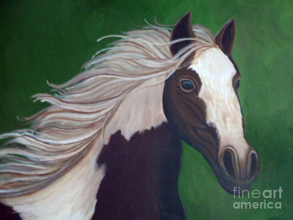 Horse Art Print featuring the painting Horse Run by Nick Gustafson