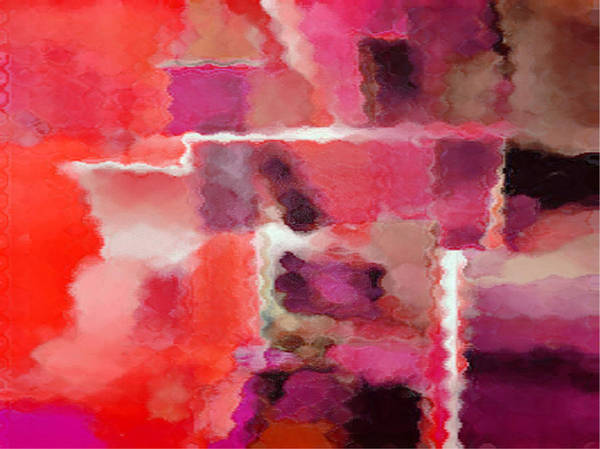 Digital Art Print featuring the painting Hot Colors by Vicky Brago-Mitchell