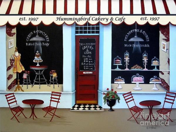 Art Art Print featuring the painting Hummingbird Cakery And Cafe by Catherine Holman