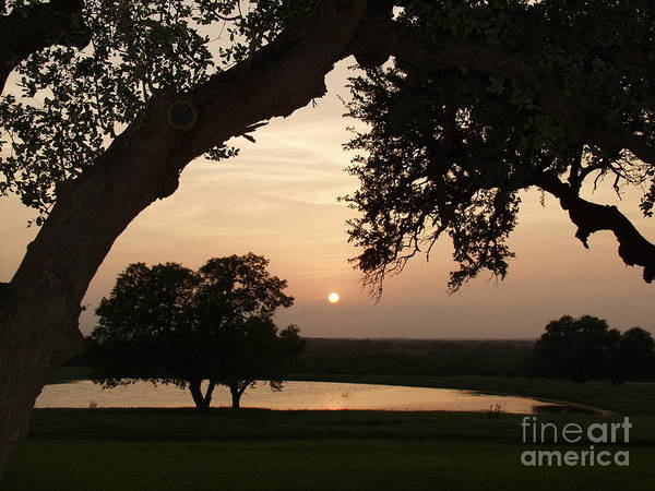 Kenedy Tx Art Print featuring the photograph Hyde Ranch Sunset by Bill Hyde