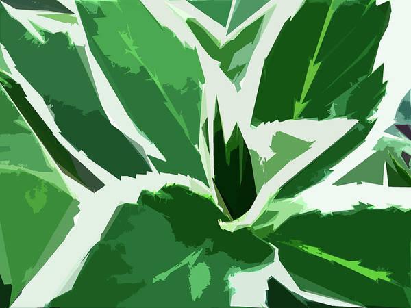 Foliage Art Print featuring the digital art Hydrangea by Gina Harrison