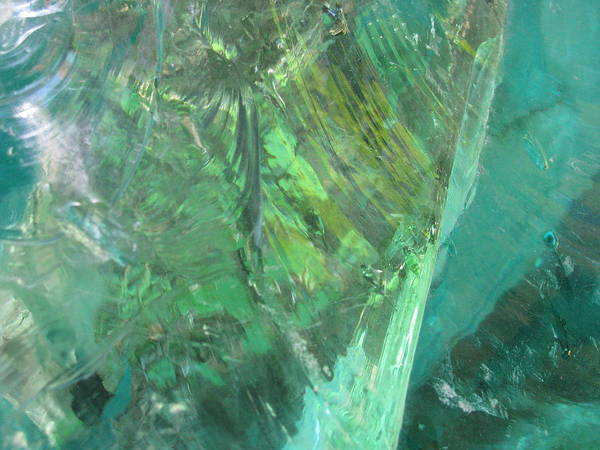 Close Up Impressionist Stone Art Print featuring the photograph Ice Stone No.2 by Belinda Consten