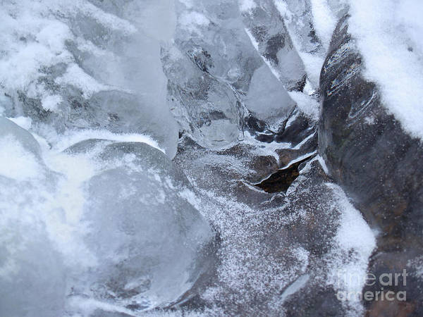 Snow Art Print featuring the photograph Icy Creek Forms In Pocono Mountains by Anna Lisa Yoder