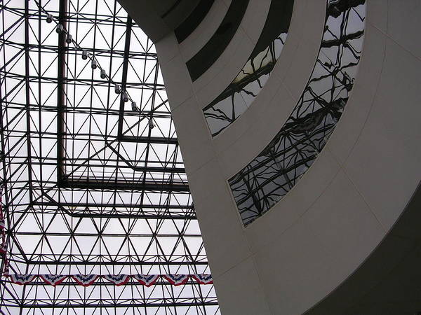 Architiecture Art Print featuring the photograph I.m. Pei - Point Of View by Nancy Ferrier