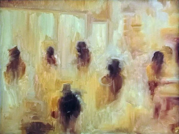 Figurative Art Print featuring the painting Impression Of Cotton Market by Brena Patchen