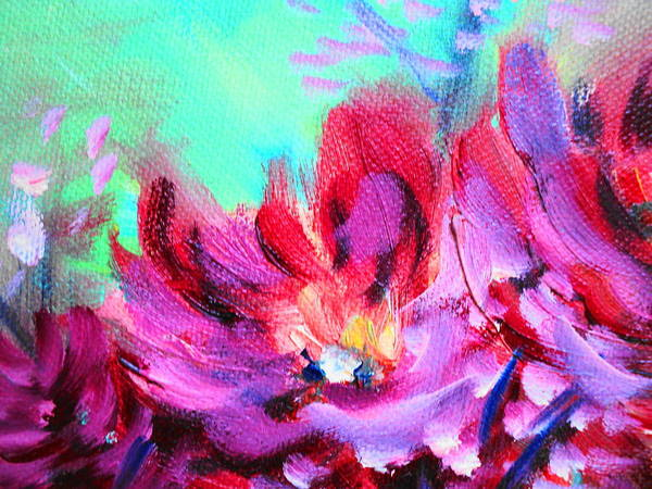 Still Life Flowers Art Print featuring the painting Impressionism Flowers by Janice Robertson
