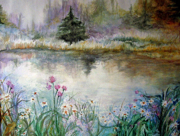 Evergreen Art Print featuring the painting In The Moment by Mary Sonya Conti