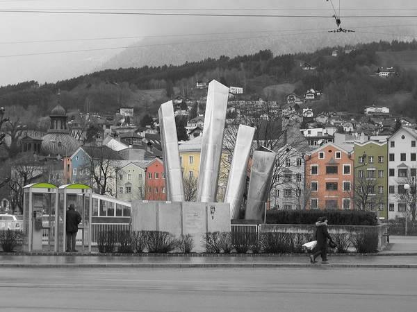 Abstract Art Print featuring the photograph Innsbruck Art by Dylan Punke
