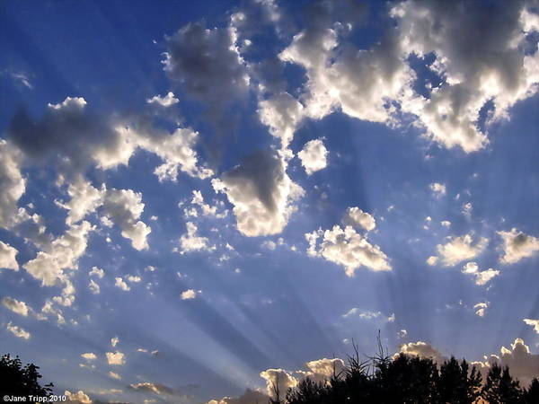 Impressionistic Sky Photograph Art Print featuring the photograph Inspirational by Jane Tripp