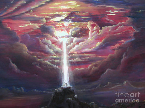 Spiritual Art Print featuring the painting Intercession Through Worship by Kathy Brusnighan