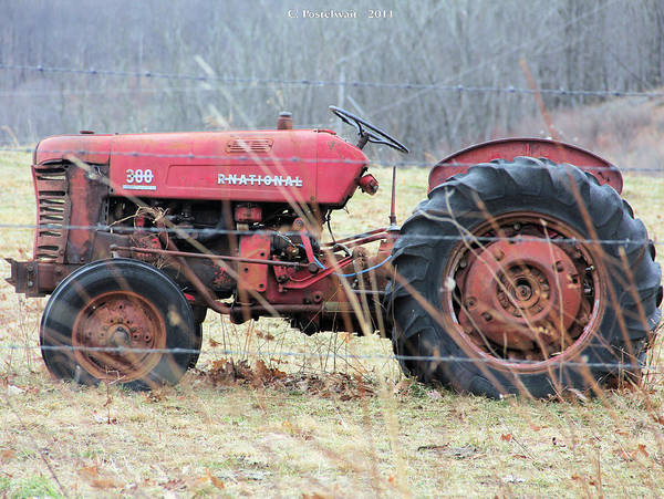 International Art Print featuring the photograph International Tractor by Carolyn Postelwait