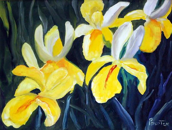 Irisis Art Print featuring the painting Irisis by Phil Burton