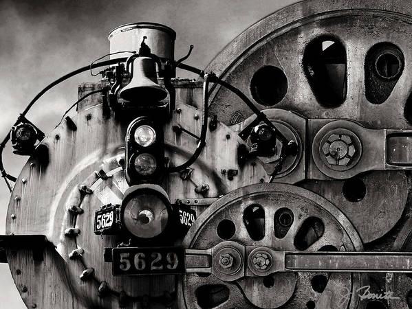 Steam Engine Art Print featuring the photograph Iron Circles No. 1 by Joe Bonita