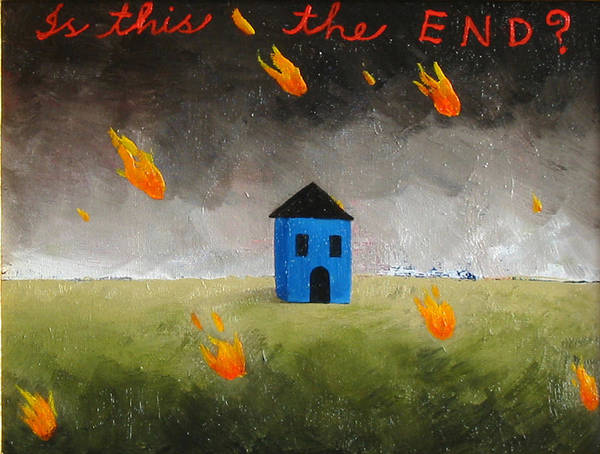 House Art Print featuring the painting Is This The End by Pauline Lim