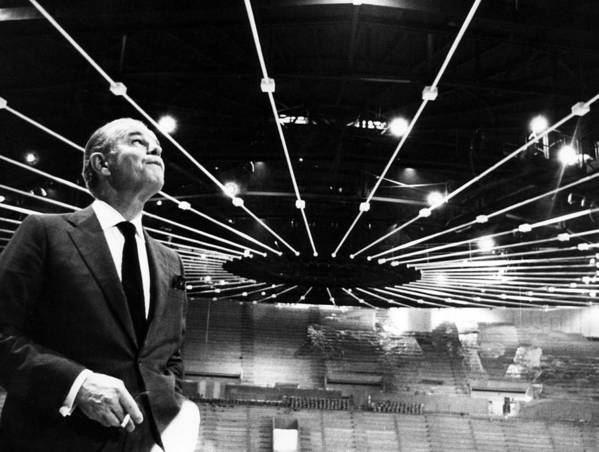 1960s Print featuring the photograph Jack Kent Cooke In The Forum Sports by Everett