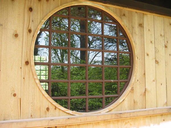 Window Art Print featuring the photograph Japanese Garden by Carrie Auwaerter