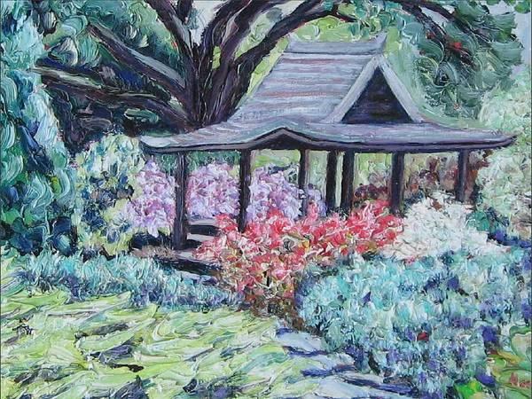 Garden Art Print featuring the painting Japanese Garden by Richard Nowak