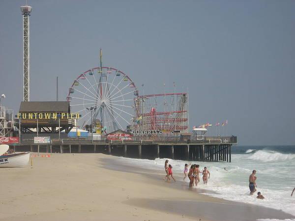 Beach Art Print featuring the photograph Jersey Shore Summer by Jennifer Sweet