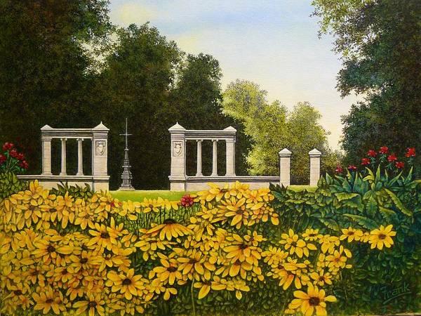 Jewel Box Art Print featuring the painting Jewel Box Gardens by Michael Frank