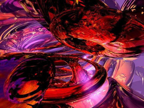 3d Art Print featuring the digital art Jubilee Abstract by Alexander Butler