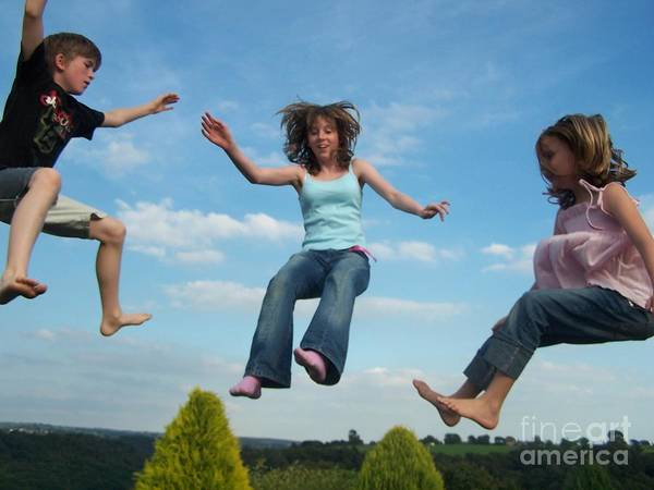 Art Print featuring the photograph Jumping For Joy by Jane Stanley
